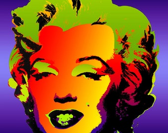 Tribute to Andy Warhol Pop Art 16x16 Marilyn Monroe VI Metallic Limited Edition Print Signed by Auric Visual Artist