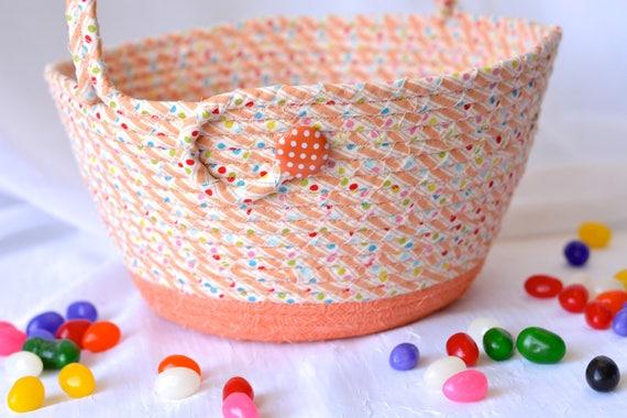 Orange Easter Basket, Handmade Easter Bucket, Lego Storage Basket, Boy Room Storage Organizer, Easter Decoration, Easter Egg Hunt Bucket