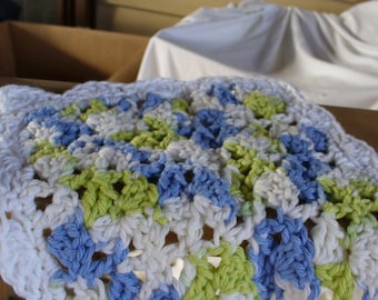 Blue an Green Dish Cloth