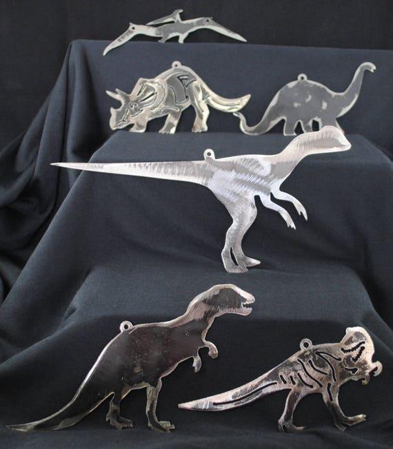 Dinosaurs, Dinosaur Pack, Dinosaur Migration, Metal Dinosaurs, Dinosaur Group, Metal Wall art Hangings, Metal Magnets, Jurassic Park, Gift