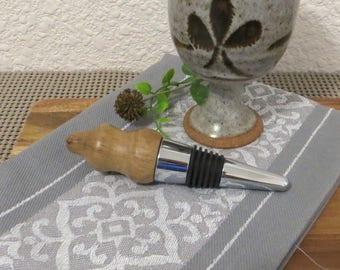 SALE - Cork Screw Bottle Stopper - Hand Turned Wood - Gambel Oak