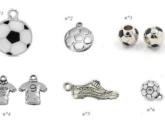soccer football sports silver choice charm