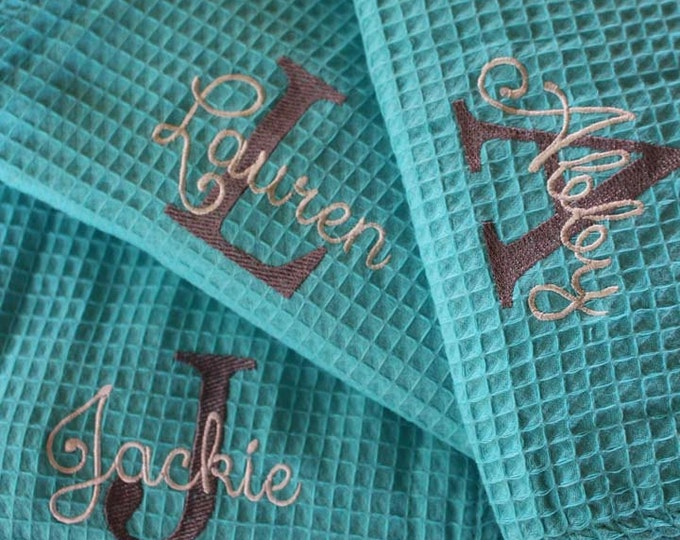 Personalized Bridesmaid Robe ,Monogrammed Robe, Waffle Robe, Personalized Bridesmaid Gifts