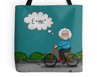 Albert Einstein Tote Bag, theory of relativity