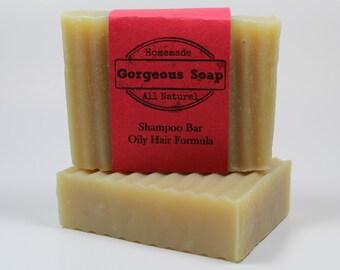 Oily Hair Shampoo Bar - All Natural Shampoo, Handmade Shampoo, Homemade Shampoo, Handcrafted Shampoo