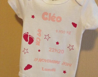 Bodysuit personalized baby gift-mixed