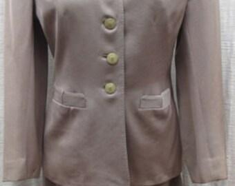 VINTAGE Harrold 5th AVE Gaberdine Dress Suit 1940s