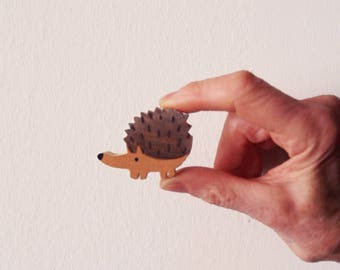 Small Hedgehog Wood Toy - wooden hedgehog, hedgehog toy, hedgehog figurine. Wood toys, natural wooden toys, wooden animals
