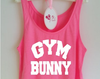 Gym Bunny. Funny Gym Tank Top. Workout Tank. Yoga Tank. Gym Vest. Running Tank. Gym Shirt. Gym Tank. Workout Shirt. Workout Clothes. Gym Rat