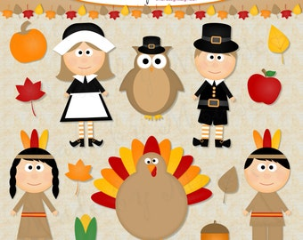 Thanksgiving Clipart- INSTANT DOWNLOAD