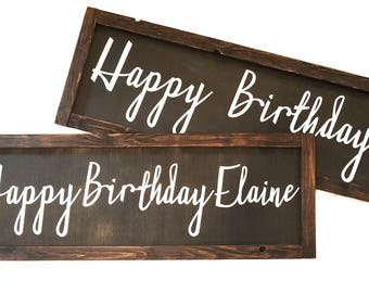 Happy Birthday Wooden Sign - Birthday Decor- can customize