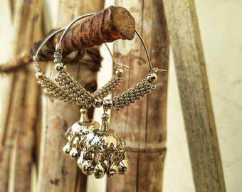 Ethnic Indian style hoop earring