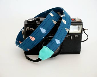 Thin camera strap,  1'' wide, Mirrorless camera strap, SLR DSLR camera strap, rain drop camera strap, ideal for light weight camera