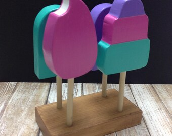Popsicles on their base