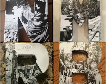 THE WALKING DEAD Comic Book 3-D Letters- Made to Order