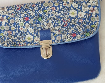Faux leather clutch bag and liberty june meadow