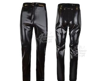 Men's latex rubber jeans trousers WRUB376