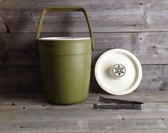 Vintage Rubbermaid Avocado Ice Bucket | Vintage Barware