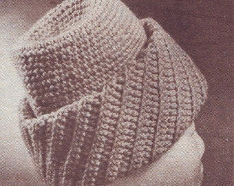 Crochet Men's Hat Vintage Crochet Hat PDF Pattern. Instant Download