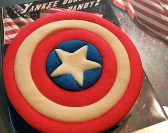 Captain America inspired Kids Birthday Party Favors; 4th of July Cookies, Independence Day Cookie, USA, Captain America Shield, Veterans Day