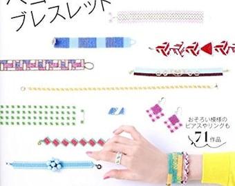 Peyote stitch bracelet - Japanese Craft Book Handmade goods Bracelet accessories pierced earrings necklace ring Peyote stitch beads
