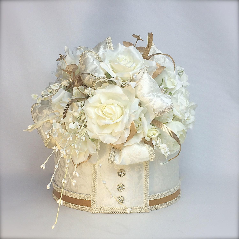 wedding card box with lock cream gold wedding card box with