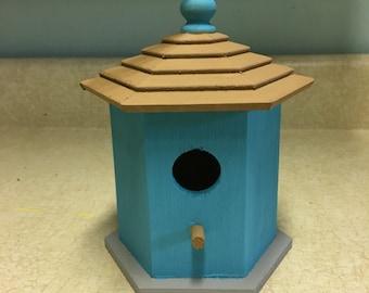 Blue Birdhouse.