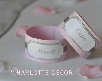 Deco wedding napkin ring