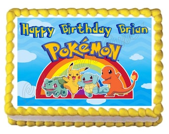 Pokemon edible cake image cake topper frosting sheet