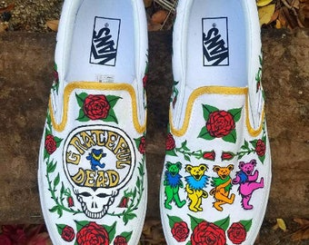 The Grateful Dead Hand Painted Sneakers