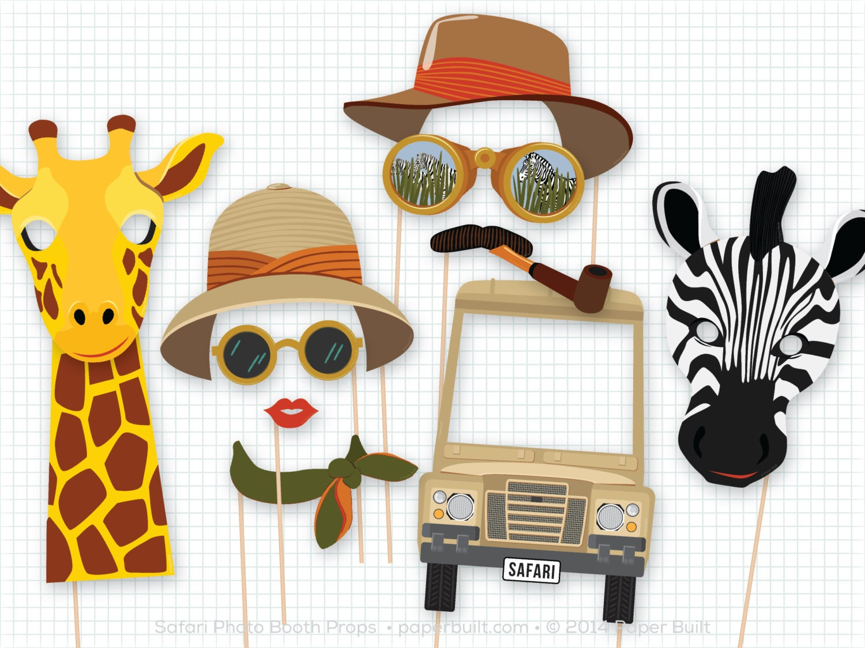 Safari Party Photo Booth Props Safari Birthday Foto Booth