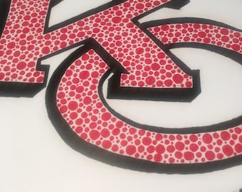 Signed and Numbered Print Kansas City Chiefs Dot Art 11 x 17