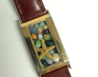 Repurposed Upcycled/Recycled Beach Watch Bracelet W2