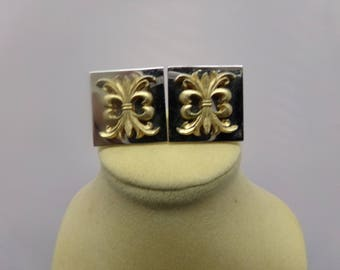 Silver and Gold Tone Cuff Links