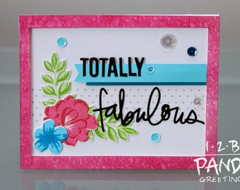 Pink Totally Fabulous Mother's Day Card