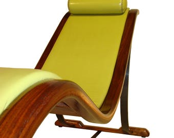 Walnut bent-wood chaise with a naughty secret - The Archer Bowchair