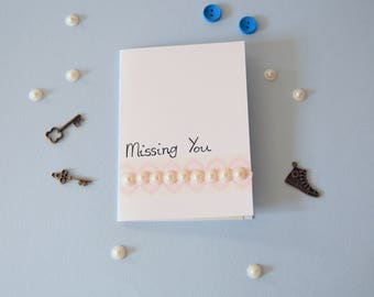 pearl strip Missing You card