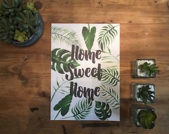 A4 Home Sweet Home Print