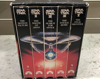 Star Trek - The Movies - 25th Anniversary Collector's Set - VHS - Awesome nostalgic gift for your special Sci-Fi Geek