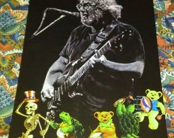 GRATEFUL DEAD Jerry Garcia   Charcoal Poster Print