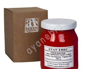 Ebru Marbling Colors-Pigment Red-Organic (Ayan)