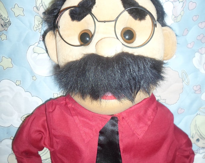 """Puppet - Large 30"""" Full/Half Body Puppet for Professional Puppetry & Puppet Ministry - Dad, Pastor, or any Male Character Puppet"""