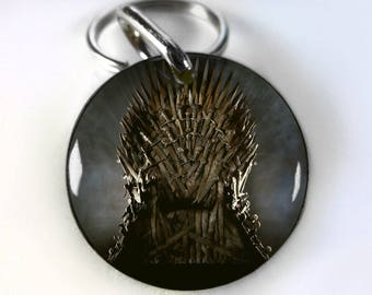 Game Of Thrones Iron Throne Pet ID tags Dog Tags Dog Collar Pet ID Tags iron throne chair