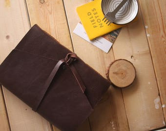 Personalized Leather Journal, rustic sketchbook, rustic leather guestbook, Diary / Story Journal Books, Custom sentence, logos, Names..