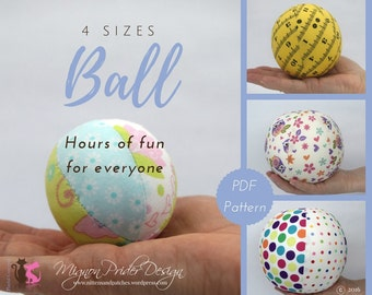 Fabric Ball Sewing Pattern - 4 sizes