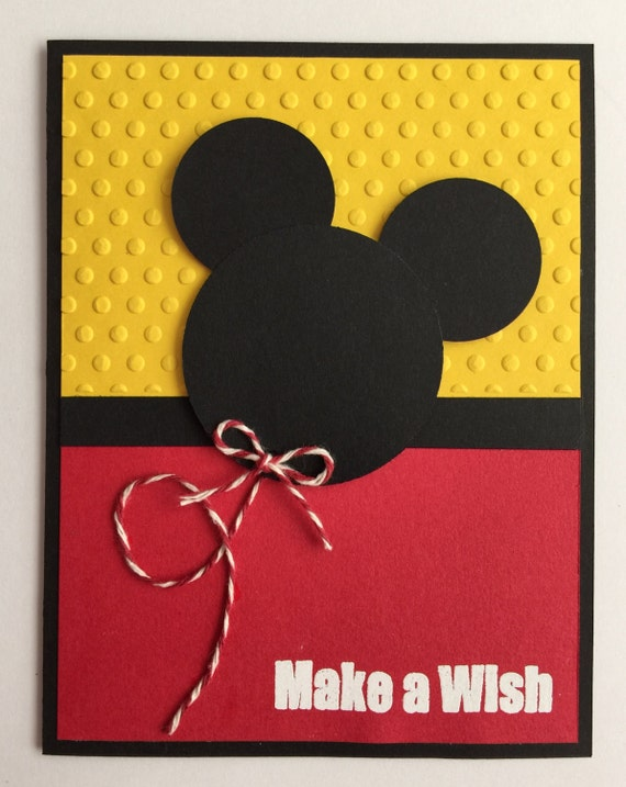 Very best Handmade Embossed Mickey Mouse Birthday Card XW37
