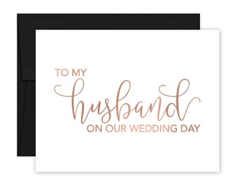 To My Husband on our Wedding Day Cards - Card to my husband on our wedding day - Husband Wedding Day Card - Husband Wedding Card (CH-TET)