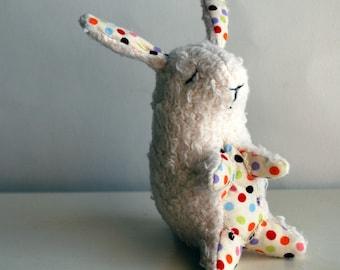 Sleepyhead Bunny Plushie Made from Organic Cotton Fleece - Bunny Rabbit - Easter - Baby Toy - Stuffed Animal - Tiny Plush - Sweet - Classic