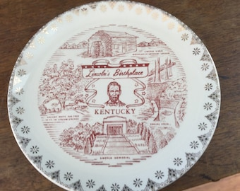 Lincoln's Birthplace Kentucky Collecter Plate