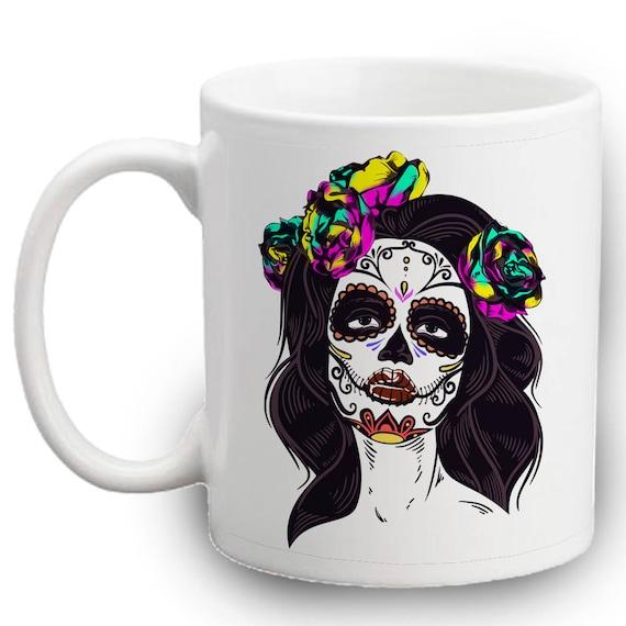 Catrina Sugar Skull Mug Skulls Cute Lady Gifts